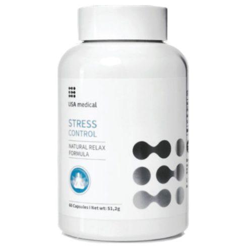 USA medical STRESS CONTROL kapszula 60 db - Stressz és szorongás oldás természetes összetevőkkel