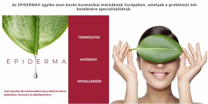 Epiderma bőrgyógyászati CBD kozmetikum