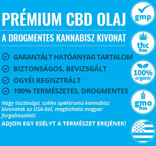Prémium CBD olaj. Drogmentes kannabisz kivonat biztonságos, OGYÉI regisztrált
